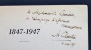 1847-1947. Centenaire de l'Ecole supérieure des jeunes filles de Genève.. CHEVALLIER Maurice; PICOT Albert; MERCIER Henri; ZIEGLER Henri de; ...
