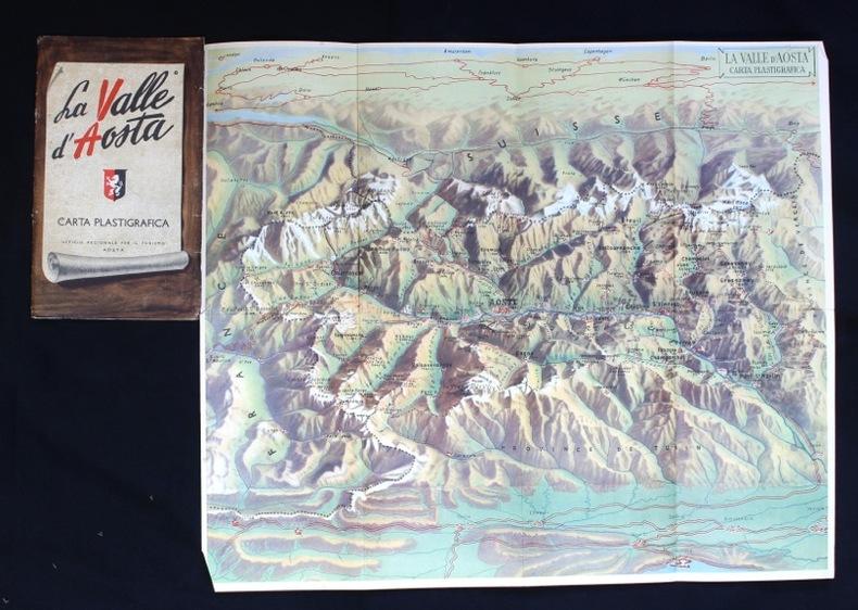 La Valle d'Aosta. Carta plastigrafica..