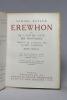 Erewhon ou De l'autre côté des montagnes.. BUTLER Samuel, LARBAUD Valery (trad.):