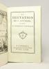 La Tentation de S. Antoine, ornée de figures et de musique. [suivi de] Le Pot-pourri de Loth, orné de figures et de musique.. [SEDAINE Michel-Jean]: