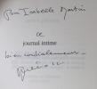 Journal intime. Tome 1 : les années de réflexions (1939-1995).. PREVOST Daniel: