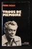 Trous de mémoire.. Pierre Dudan: