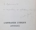 L'offrande lyrique (Gitanjali). Traduction d'André Gide (seule autorisée).. TAGORE Rabindranath: