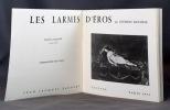 Les larmes d'Eros. Nouvelle édition augmentée.. BATAILLE Georges; LO DUCA (intr.):