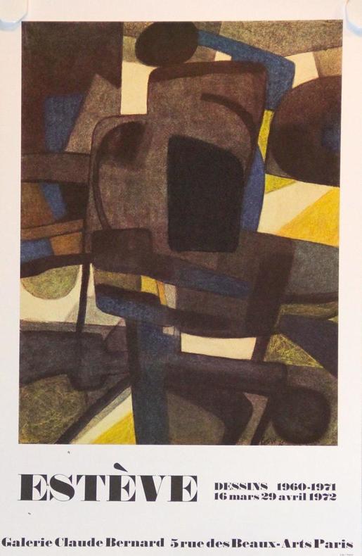Dessins 1960-1971. Galerie Claude Bernard, Paris. (16 mars-29 avril 1972).. ESTEVE: