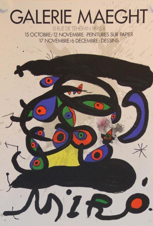 Peintures sur papier. Dessins. Galerie Maeght, Paris.. MIRÓ: