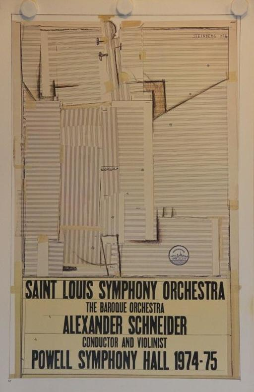 Saint Louis Symphony Orchestra. The baroque orchestra. Alexander Schneider conductor and violonist. Powell symphony Hall 1974-1975.. STEINBERG: