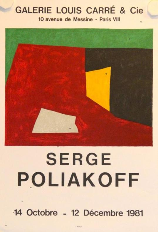 Galerie Louis Carré, Paris 1981.. POLIAKOFF Serge: