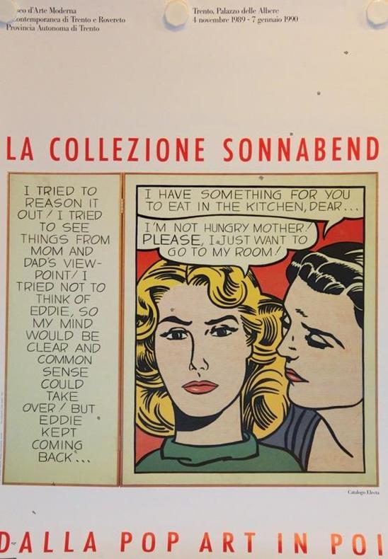 La collezione Sonnabend. Dalla pop art in poi. Mueo d'Arte Moderna, Trento 1990.. LICHTENSTEIN Roy: