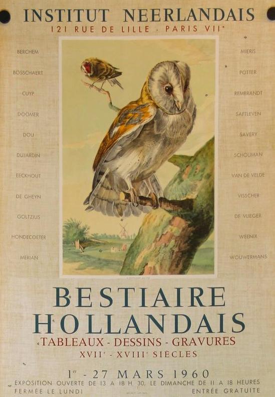 Bestiaire hollandais. Tableaux - dessins - gravures XVIIe-XVIIIe siècles. Institut néerlandais, Paris 1960..