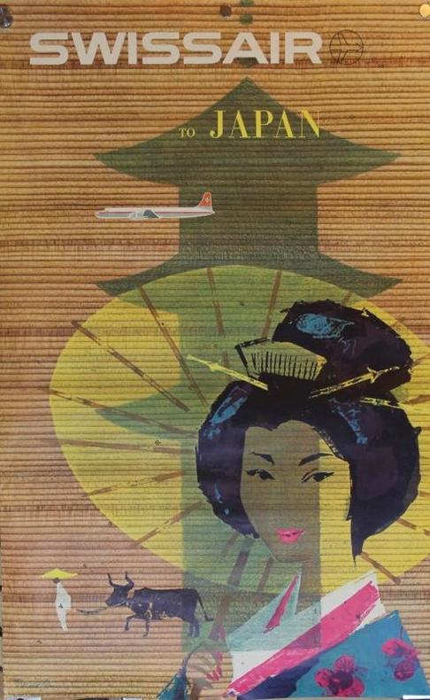Swissair to Japan. 1958.. BRUN Donald: