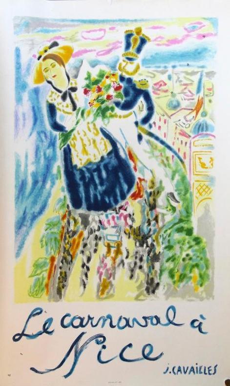Le carnaval à Nice. 1964.. CAVAILLES Jules: