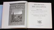 Description de l'Egypte, ou Recueil des observations et des recherches qui ont été faites en Égypte pendant l'expédition de l'Armée française, publié ...