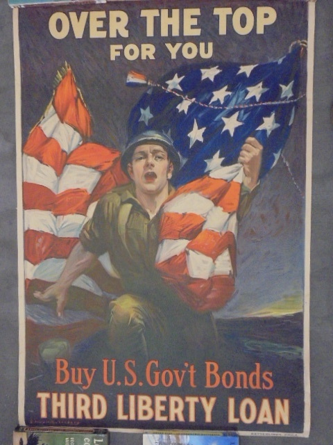 Over the Top for You; Buy U.S. Gov't Bonds, Third Liberty Loan . RIESENBERG, Sidney H.