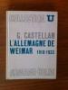 L'ALLEMAGNE DE WEIMAR. C. Castellan