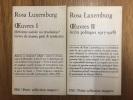 Oeuvres, vol. I et II : réforme sociale ou révolution et écrits politiques 1917-1918. Rosa Luxemburg