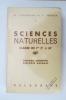 SCIENCES NATURELLES Classes de 1re C' et M'. Zoologie descriptive / Biologie animale.. M. Chadefaud et V. Régnier