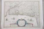 CARTE : Bourdelois Pays de Médoc et la Prevoste de Born. Everard Symonsz D & Hamersveldt