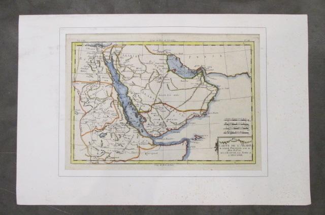CARTE de L'ARABIE du GOLFE PRESIQUE et de la MER ROUGE avec L'EGYPTE, LA NUBIE et L'ABISSINIE..
