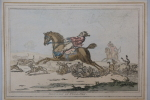 Hounds in full cry / Chien de chasse en plein cri. James Gillray (1756-1815)