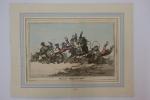 Hounds throwing-off / Les chiens de chasses qui désarçonnent. James Gillray (1756-1815)