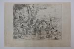 Laban à la recherche d'idoles parmi les possessions de la famille de Joseph. Giovanni Benedetto Castiglione (1609-1664)