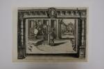 Gravure de la série : L'instruction du Roy en l'exercice de monter à cheval.. Antoine de Pluvinel (1552-1620)