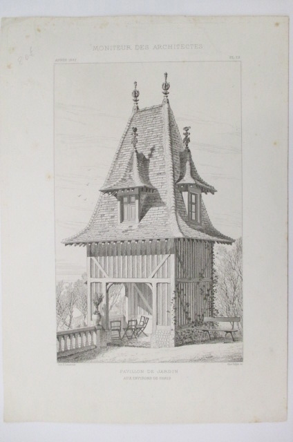 MONITEUR DES ARCHITECTES. PAVILLON DE JARDIN AUX ENVIRON DE PARIS. . Alice Sulpis