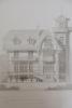 Moniteur des Architectes : Maison à Houlgate (Calvados) élévation du côté de la cour.. Imprimerie Lemercier