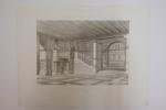 Moniteur des Architectes : Vestibule à l'exposition de Zurich en 1883.. Imprimerie Lemercier