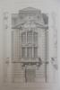 Moniteur des Architectes : Ecole centrale des Arts et Manufactures, détail du pavillon central. . Imprimerie Lemercier