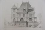 Moniteur des Architectes : Maison de campagne au Tréport : façade principale.. Imprimerie Lemercier