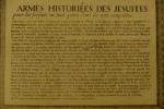 Armes historiées des Jésuites. Anonyme