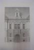 Moniteur des Architectes : Façade de l'ancien château de Tanlay, dit le Portail. Inconnu