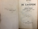 Oeuvres du Comte De Lacépède - Tome 1 - Histoire Naturelle des Quadrupèdes ovipares, des serpents, des poissons et des cétacés. Comte de Lacépède