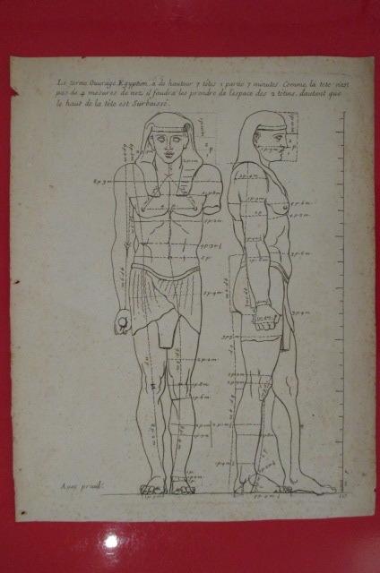 """""""Le terme Ouvrage Egyptien a de hauteur 7 têtes 1 partie 7 minutes. Comme la tête pas de 4 mesures de nez il faudra les prendre de l'espace des 2 ..."""