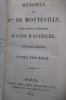MEMOIRES de MME de MOTTEVILLE pour servir à l'histoire d'ANNE D'AUTRICHE. Nouvelle édition en 5 volumes. Mme de Motteville