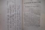 LETTRES DE LA MARQUISE DU DEFFAND à HORACE WALPOLE depuis COMTE D'ORFORD. Ecrites dans les années 1766 à 1780 auxquelles sont jointes des LETTRES DE ...