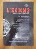 L'Homme de l'Esclavage 145°.. Revue francaise d'anthropologie #145