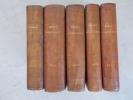 ROYAUME DE BELGIQUE. RECUEIL CONSULAIRE publié en exécution de l'arrèté royal du 13 novembre 1855. En 5 tomes..