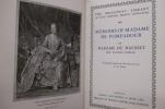 MEMOIRS OF MADAME DE POMPADOUR.. Madame du Hausset