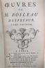 OEUVRES de M. BOILEAU DESPREAUX. En 3 tomes.. M. Boileau Despréaux