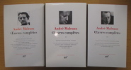 OEUVRES COMPLETES. En 3 tomes. . André Malraux / Pierre Brunel