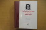 ANTHOLOGIE BILINGUE DE LA POESIE ALLEMANDE. Jean-Pierre Lefebvre