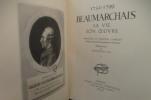 BEAUMARCHAIS SA VIE SON OEUVRE. Mémoires et Théâtre couple, collationnés sur les premières éditions. En 4 tomes.. Beaumarchais : Maximilien Vox ...