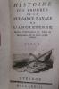 HISTOIRE DES PROGRES DE LA PUISSANCE NAVALE DE L'ANGLETERRE. Suivie d'observations sur l'Acte de navigation et de pièces justificatives. En 2 tomes..