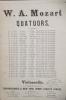 QUATUORS. . W. A. Mozart / Beethoven / Schubert / Mendelssohn-Bartholdy / Schumann