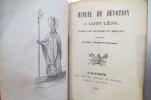 MANUEL DE DEVOTION à SAINT LEON. Evèque de Bayonne et Martyr..