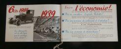 Catalogue publicitaire RENAULT JUVAQUATRE 6CV - 4 PLACES - 1939 .. Société Anonyme des Usines RENAULT à BILLANCOURT ( Seine )