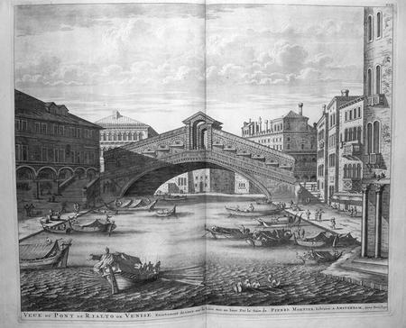 [VENISE] Veue du pont de Rialto de Venise.. BLAEU (Johannes);MORTIER (Pierre);